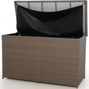Maze Rattan Garden Furniture Harrogate Natural Storage Box