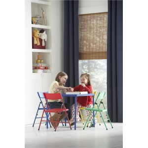 Cosco Folding Furniture Red Safety 1st Kids Pinch-Free Folding Chair 4-Pack
