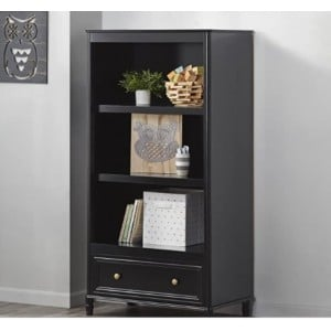 Piper Wooden Furniture Black Bookcase With Drawer