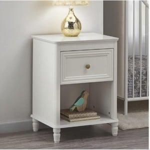 Piper Wooden Furniture Cream Nightstand With Drawer