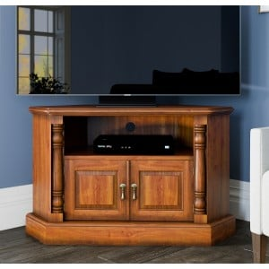 La Reine Mahogany Furniture Light Brown Corner Television Cabinet