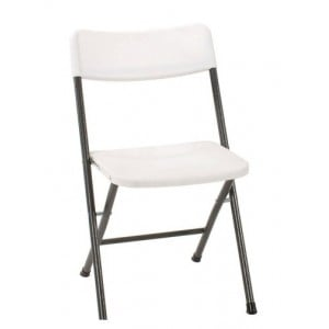 Cosco Folding Furniture White Speckle 4-Pack Molded Seat Folding Chair