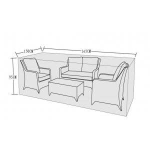 Signature Weave Garden Furniture 2 Seat Sofa Set Cover