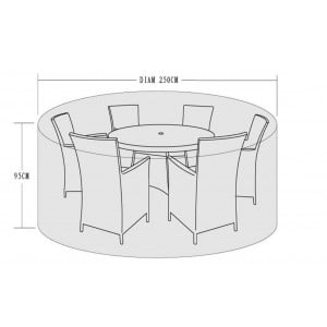 Signature Weave Garden Furniture 6 Seat Round Dining Set Cover
