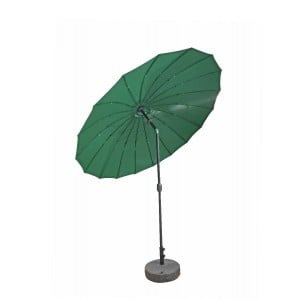 Signature Weave Garden Furniture 2.7m Shanghai Parasol with Green Canopy