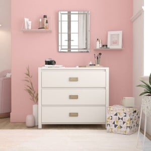 Monarch Hill Haven Painted Furniture White 3 Drawer Chest