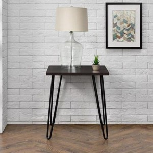 Owen Retro Wooden Furniture Espresso End Table