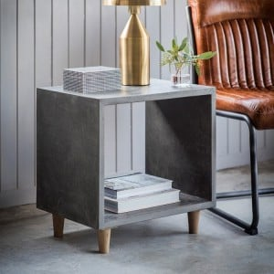 Tonbridge and Malling Furniture Faux Concrete Cube Side Table