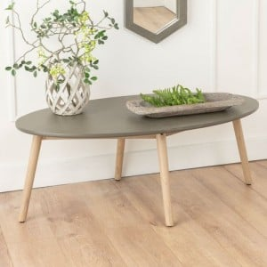 Tonbridge and Malling Furniture Faux Concrete Ovel Coffee Table