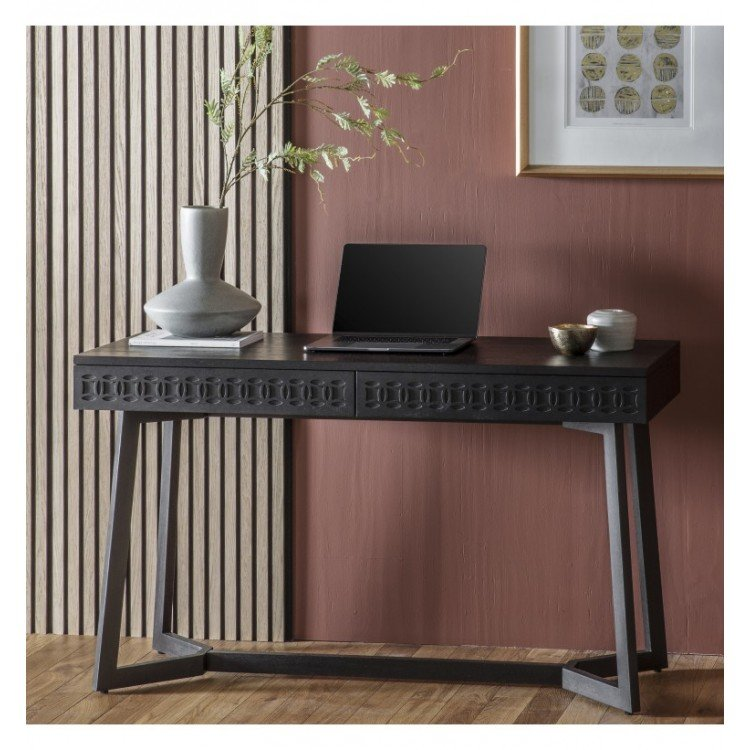 Bournemouth Furniture Charcoal Black End Table