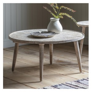 Lostwithiel Wooden Furniture Natural White Coffee Table
