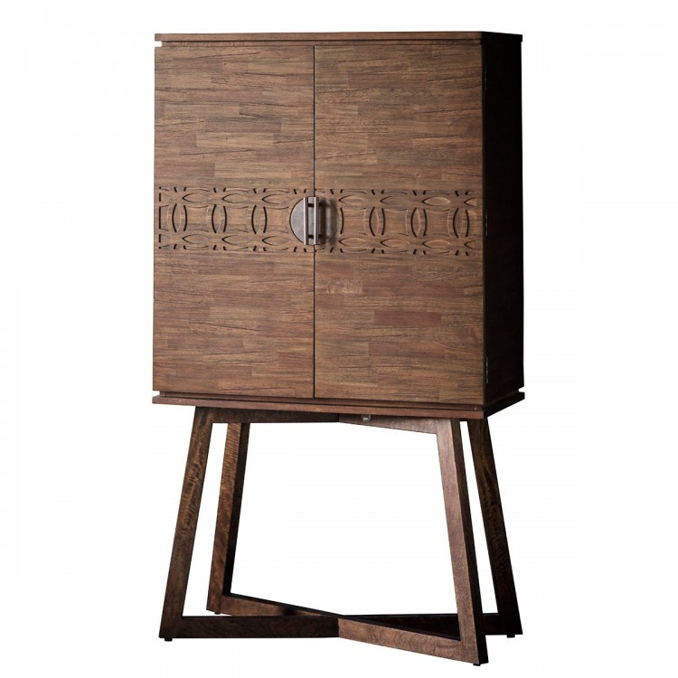 Bournemouth Furniture 2 Door Natural Cocktail Cabinet