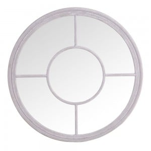 Florence Furniture Round Window Mirror Grey