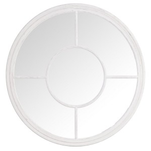 Florence Furniture Round Window Mirror White