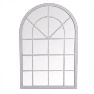 Florence Furniture Small Arched Window Mirror Grey