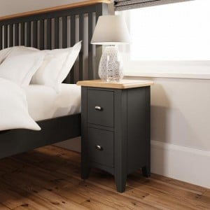 Galaxy Grey Painted Furniture Small Bedside Cabinet