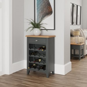 Galaxy Grey Painted Furniture Wine Cabinet