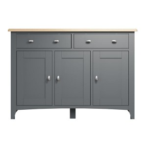 Galaxy Grey Painted Furniture 3 Door Sideboard