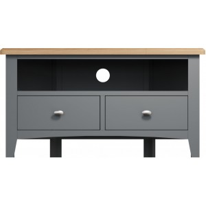 Galaxy Grey Painted Furniture Corner TV Unit