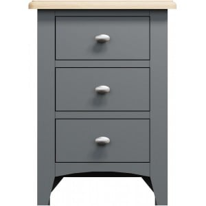 Galaxy Grey Painted Furniture 3 Drawer Bedside Cabinet