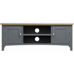 Galaxy Grey Painted Furniture Large TV Unit