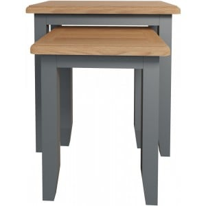 Galaxy Grey Painted Furniture Nest of 2 Tables