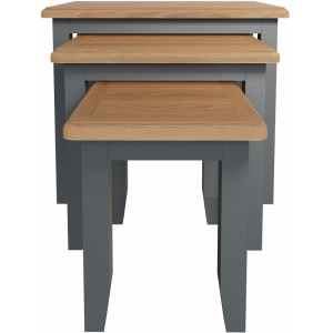 Galaxy Grey Painted Furniture Nest of 3 Tables