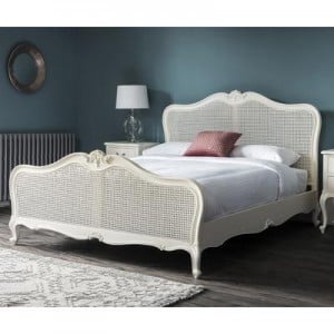 Hammersmith Furniture 5' King Size Cane Bed Vanilla White