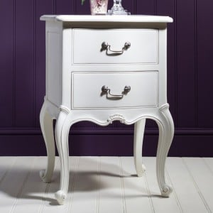 Hammersmith Furniture Vanilla White Painted Bedside Table