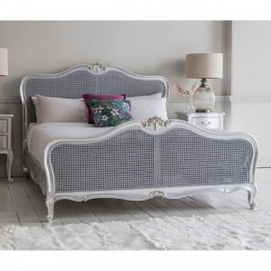 Hammersmith Furniture 5ft King Size Cane Bed Silver
