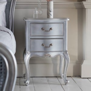 Hammersmith Furniture Silver Painted Bedside Table