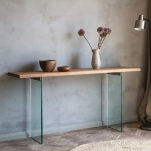 Aylesbury Vale Furniture Tempered Glass Console Table