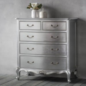 Hammersmith Silver Painted Furniture 5 Drawer Chest