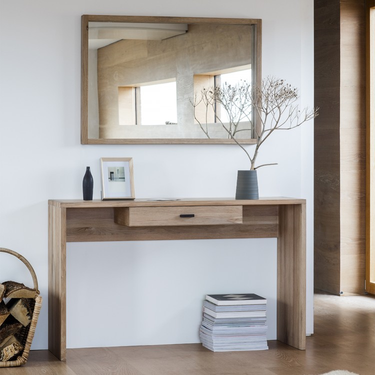 Carisbrooke Solid Oak Furniture Single Drawer Console Table