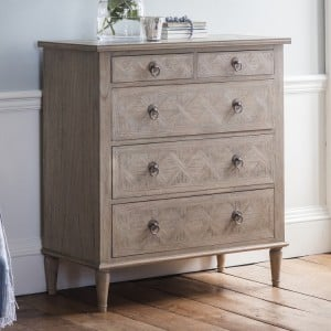 Scunthorpe Furniture 2 Small Drawer 3 Large Drawer Bedside Cabinet