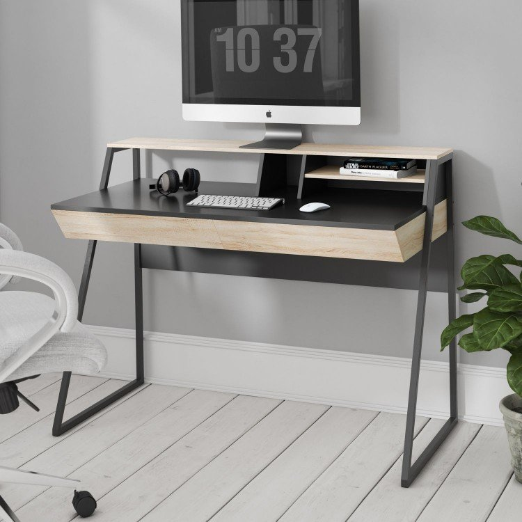 Alphason Office Furniture Salcombe 2 Drawer Compact Desk - PRE ORDER
