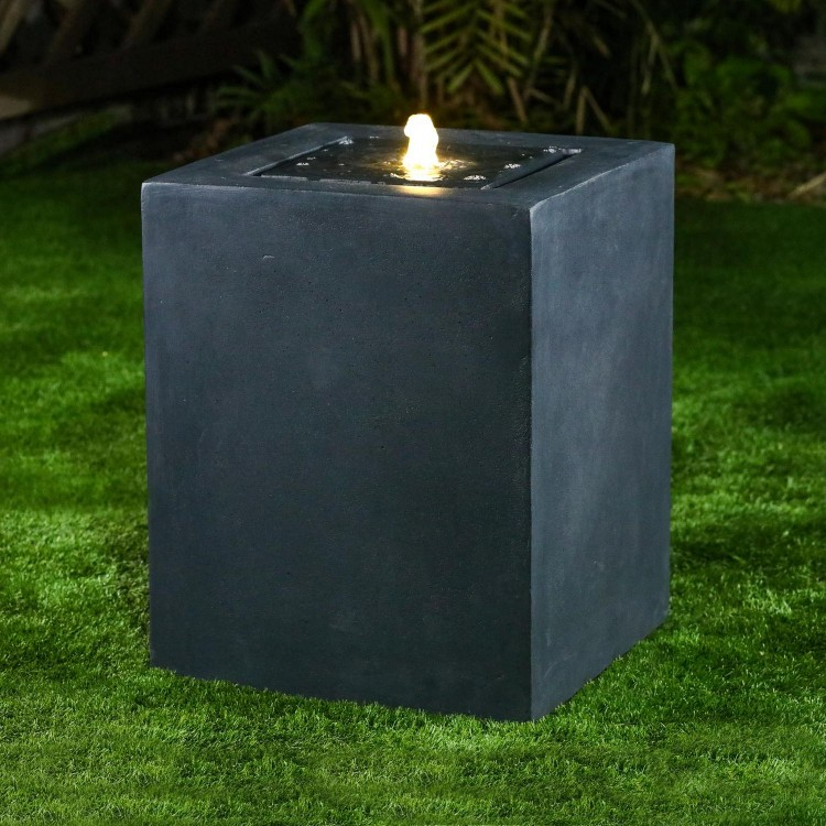 Nova Garden Furniture Rei Dark Grey Water Feature with 1 LED Light