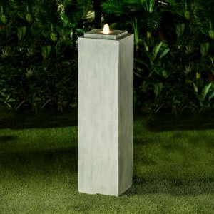 Nova Garden Furniture Shiloh Large Light Grey Water Feature with 1 LED Light
