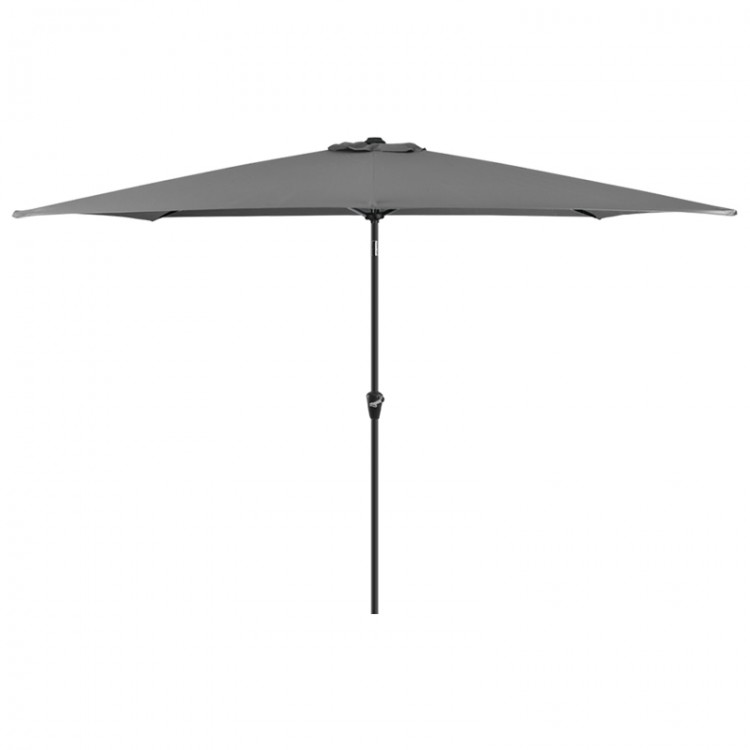 Nova Garden Furniture Antigua Grey 3m x 2m Rectangular Aluminium Table Parasol