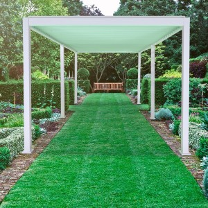 Nova Garden Furniture White 3m x 6m Rectangular Aluminium Pergola