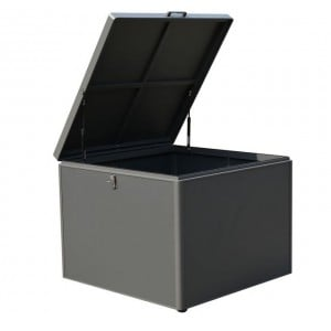 Nova Garden Furniture Grey Frame Small Aluminium Storage Box