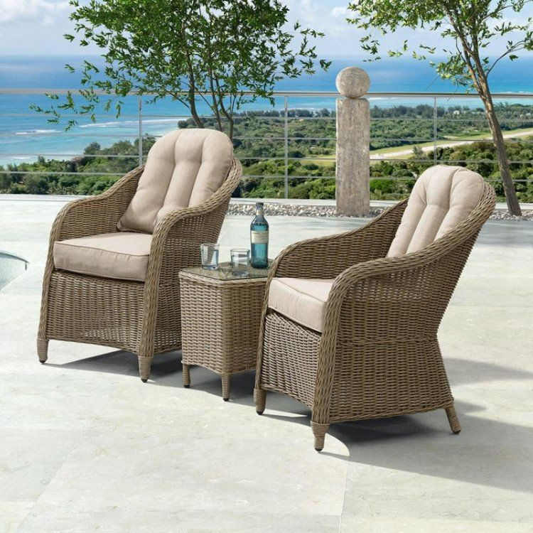 Nova Garden Furniture Isabella Willow 3 Piece Rattan Lounge Set