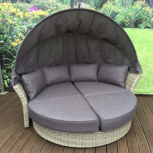 Signature Weave Garden Furniture Lily Nature Weave Daybed With Canopy