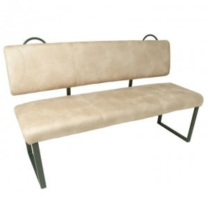 Hurley Back Seat Moleskin Leather Upholstery Oyster Bench