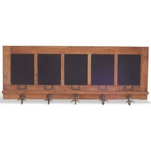 Robin Industrial Hallway Furniture Factory Chic Blackboard Coat Rack