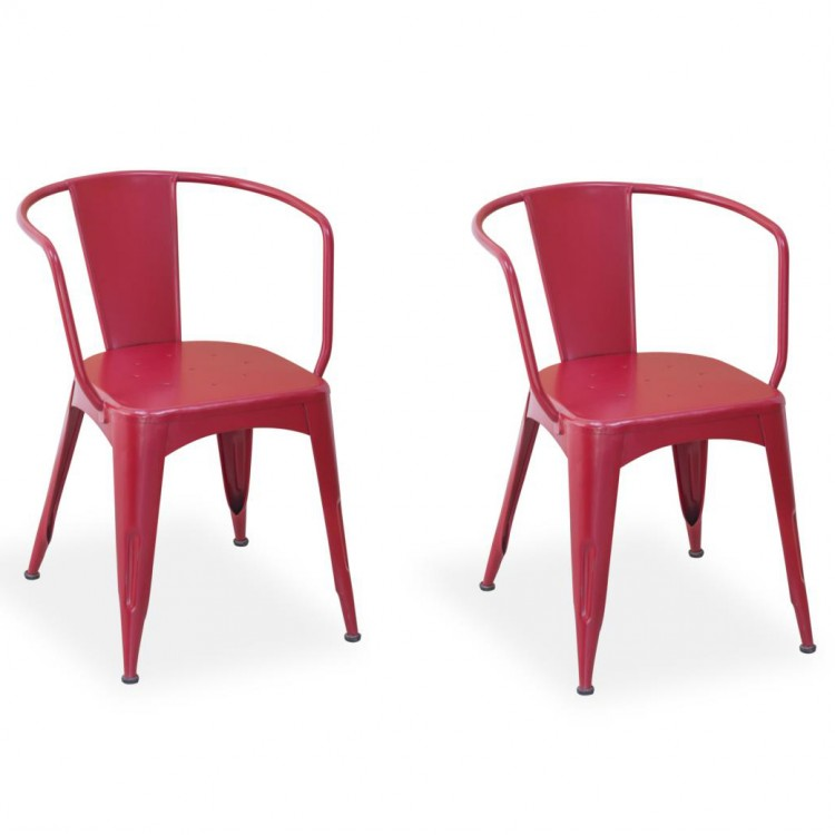 Robin Industrial Dining Room Furniture Navy Chair Industrial Red Pair