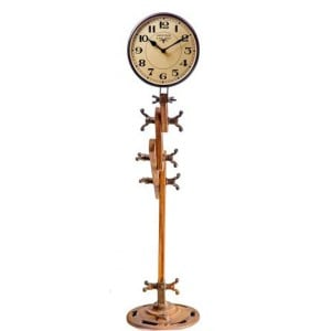 Upcycled Collection Iron Industrial Lamp Style Clock
