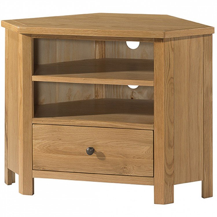 Burford Oak Furniture Corner TV Unit