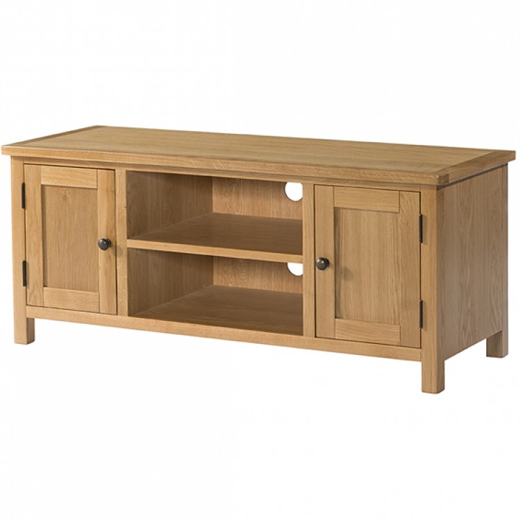 Burford Oak Furniture 2 Door Large TV Unit