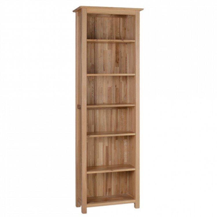 Devonshire New Oak Furniture 6ft Narrow Bookcase
